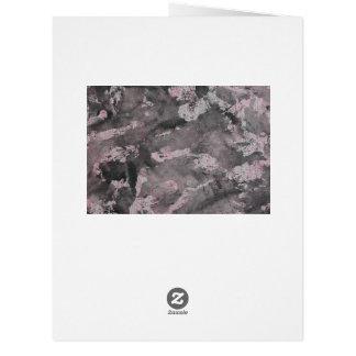 Cartão De tinta preta no highlighter cor-de-rosa