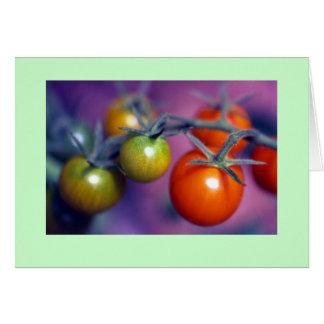 """Cartão De """"tomates cereja """""""