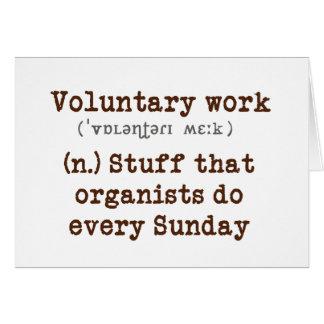 Cartão de trabalho voluntário
