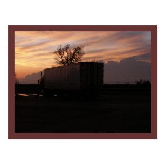 Cartão de transporte por caminhão dos EUA Cartão Postal