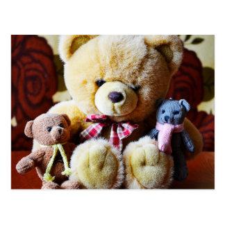 Cartão de três ursos de ursinho