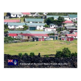 Cartão de Tristan a Dinamarca Cunha. Foto real de