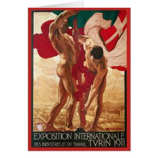 Cartão De Turin a feira 1911 de mundo