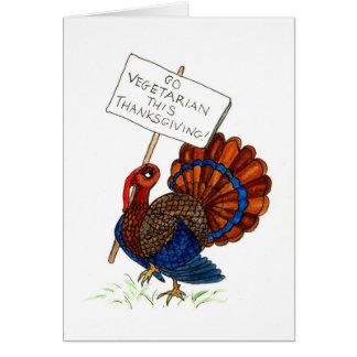 Cartão Cartão de Turquia da acção de graças