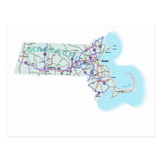 Cartão de um estado a outro do mapa de