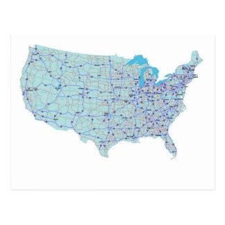 Cartão de um estado a outro do mapa dos Estados