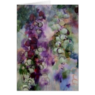 """Cartão De """"uvas Shenandoah"""" em cores vívidas"""