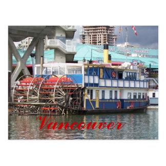 Cartão de Vancôver do Riverboat