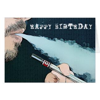 Cartão de Vaping do feliz aniversario