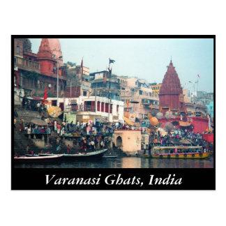 Cartão de Varanasi Ghats