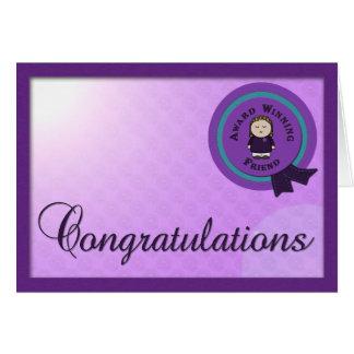Cartão de vencimento de Congrats do amigo do