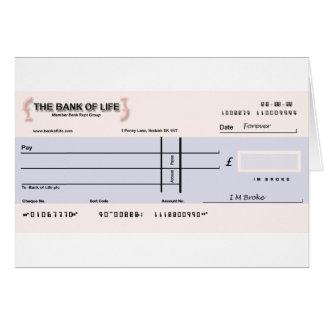 Cartão de verificação vazia