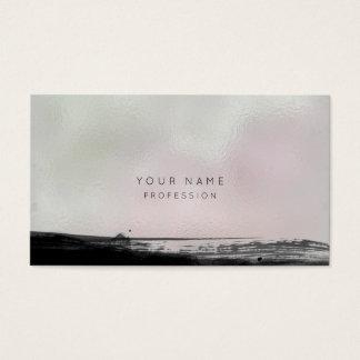 Cartão de vidro da nomeação do rosa preto abstrato
