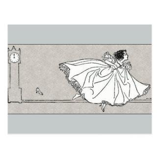 Cartão de vidro de Cinderella do vintage do