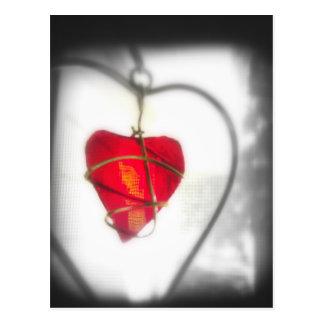 Cartão de vidro do coração