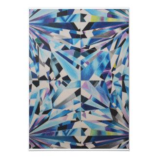 Cartão de vidro do diamante