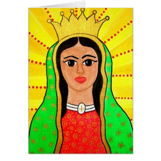 Cartão de Virgen de Guadalupe