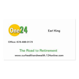 Cartão de visita 124 em linha
