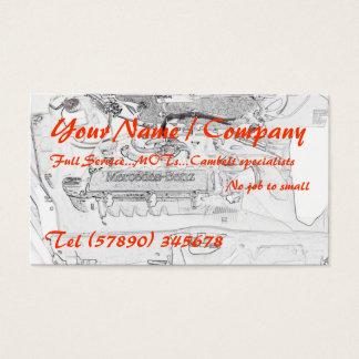 Cartão de visita 1 dos mecânicos