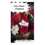 Cartão de visita 3 da loja de florista