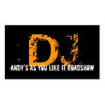 Cartão de visita 7 do DJ