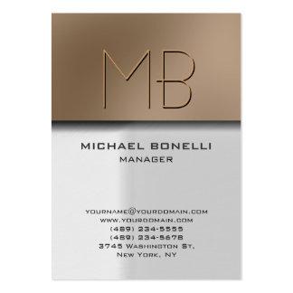 Cartão de visita à moda bege cinzento carnudo na m