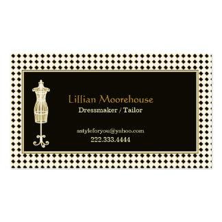Cartão de visita à moda da loja do alfaiate