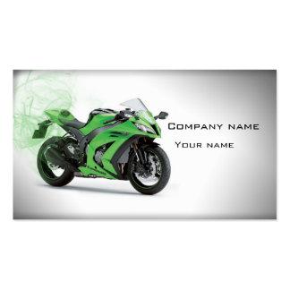 Cartão de visita à moda da motocicleta