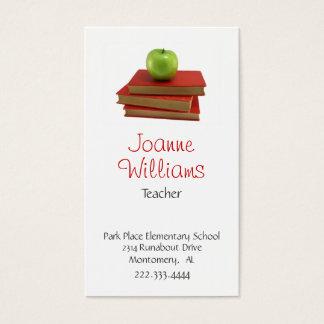 Cartão de visita à moda do professor