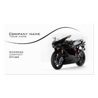 Cartão de visita à moda do superbike