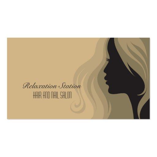 Cartão de visita à moda na moda dos termas do salã