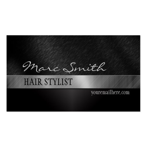 Cartão de visita à moda preto frente e verso