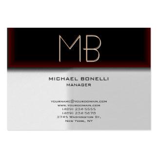 Cartão de visita à moda vermelho browny cinzento d