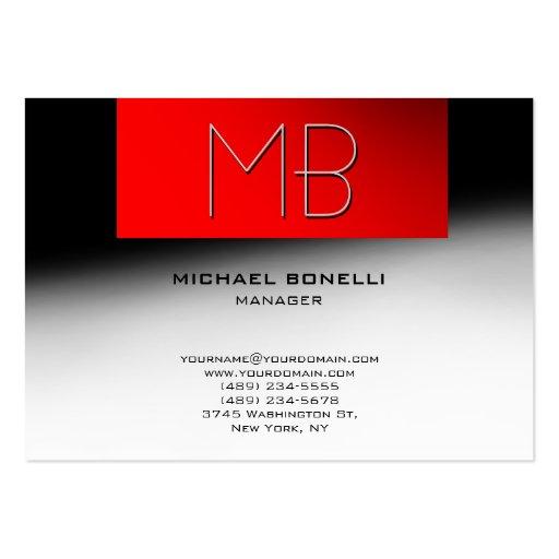 Cartão de visita à moda vermelho cinzento carnudo