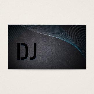 Cartão de visita abstrato do DJ do preto de carvão