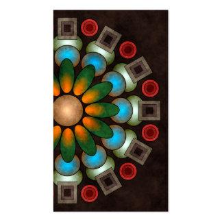 Cartão de visita abstrato floral bonito da arte do