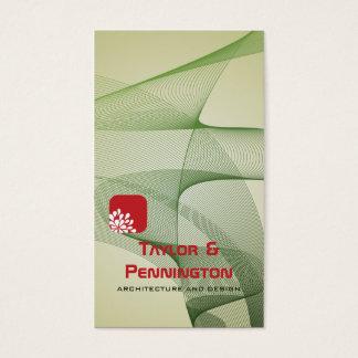 Cartão de visita abstrato verde da arquitetura das