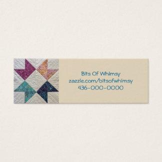 Cartão de visita acolchoado do Batik