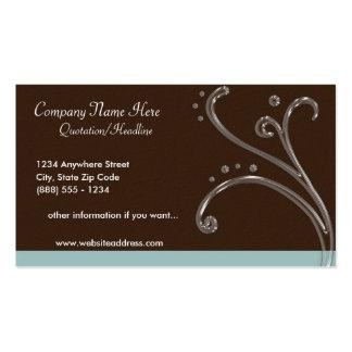 Cartão de visita acrílico do design de Brown & de