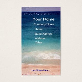 Cartão de visita aéreo da praia do azul de