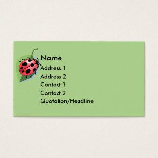 Cartão de visita afortunado do joaninha do KRW