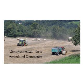 Cartão de visita agrícola do contratante