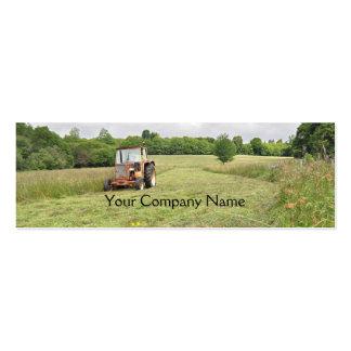 Cartão de visita agrícola do feno do corte do trat