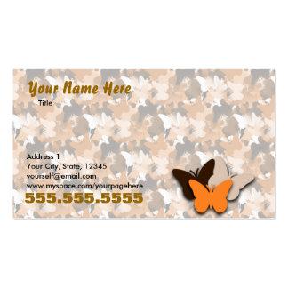 Cartão de visita alaranjado da borboleta