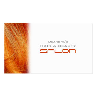 Cartão de visita alaranjado da nomeação do cabelei