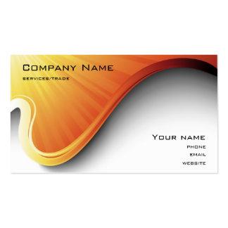 cartão de visita alaranjado do design