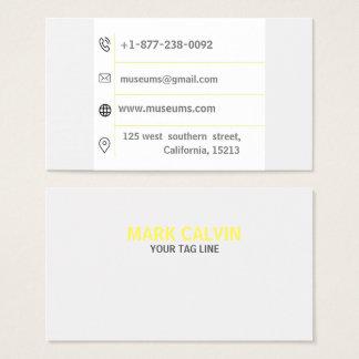 Cartão de visita alaranjado moderno profissional