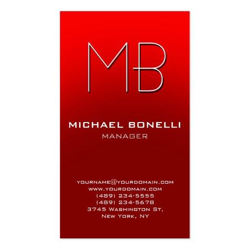 Cartão de visita alaranjado vermelho vertical na m