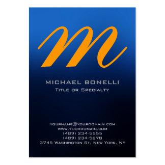 Cartão de visita amarelo azul carnudo na moda do m