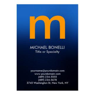 Cartão de visita amarelo azul moderno na moda do m